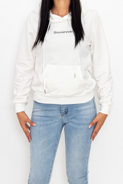 Hanorac Dama CR1780 Alb Fashion