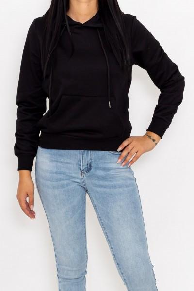 Hanorac Dama CR1777 Negru Fashion