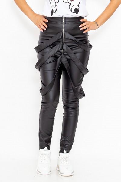 Pantaloni Dama cu bretele P001 Negru R.Badescu