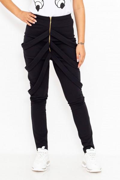 Pantaloni Dama cu bretele P002 Negru R.Badescu