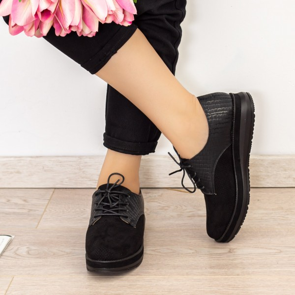 Pantofi Casual Dama BL00087 Negru Botinelli