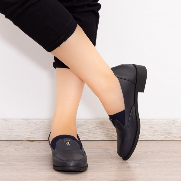 Pantofi Casual Dama EK0101 Albastru inchis Botinelli