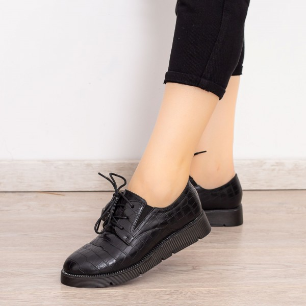 Pantofi Casual Dama EK0090 Negru Botinelli