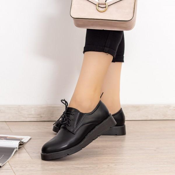 Pantofi Casual Dama EK0090A Negru Botinelli
