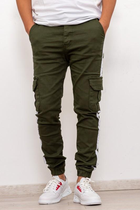 Pantaloni Barbati 7215 Verde Charj Denim