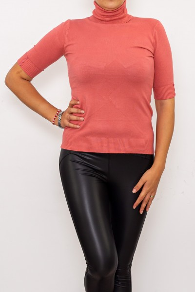 Bluza Dama cu maneca 1/2 D208 Roz inchis Fashion
