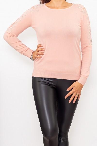 Bluza Dama cu maneca lunga D253 Roz deschis Fashion