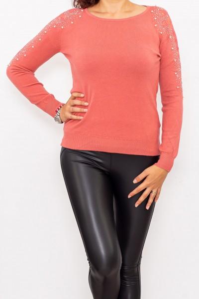 Bluza Dama cu maneca lunga D253 Roz inchis Fashion