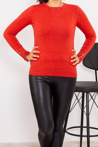 Bluza Dama cu maneca lunga D515 Portocaliu Fashion