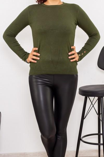 Bluza Dama cu maneca lunga D515 Kaki Fashion