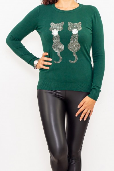 Bluza Dama cu maneca lunga D567 Verde Fashion