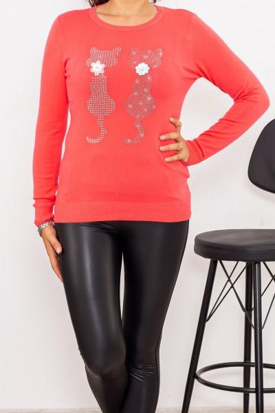 Bluza Dama cu maneca lunga D567 Fucsia Fashion