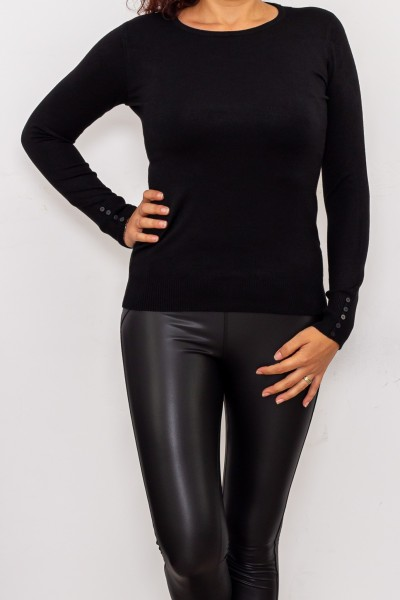 Bluza Dama cu maneca lunga D569 Negru Fashion