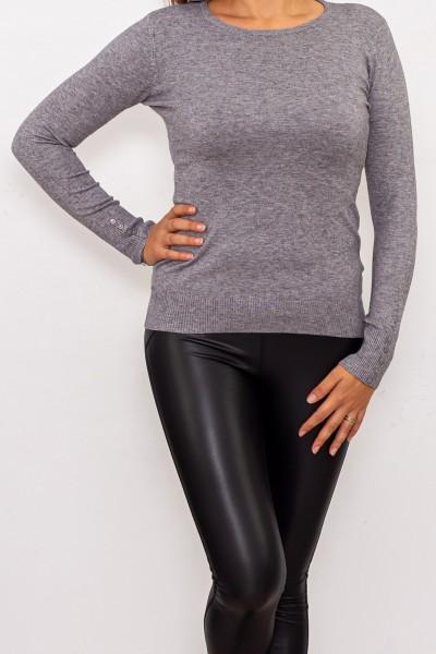 Bluza Dama cu maneca lunga D569 Gri Fashion