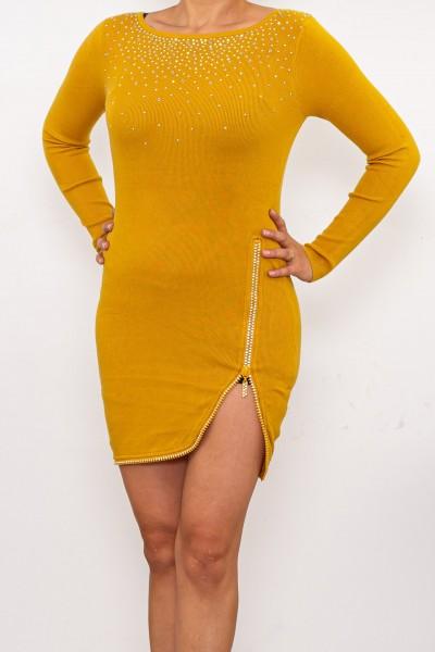 Rochie Dama DD362 Galben Fashion