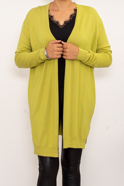 Cardigan Dama DD363 Verde deschis Fashion