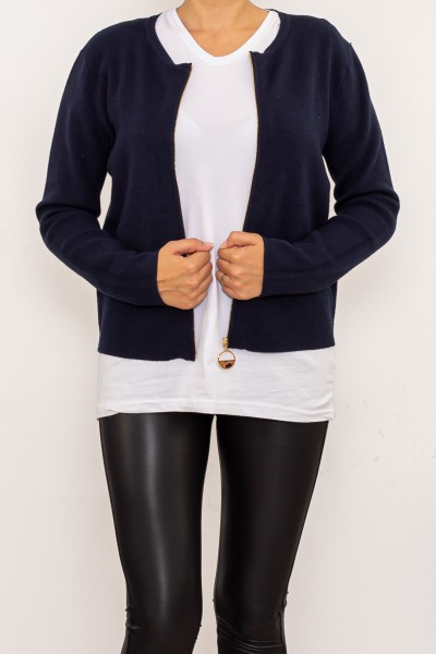 Jacheta Dama D537 Albastru inchis Fashion