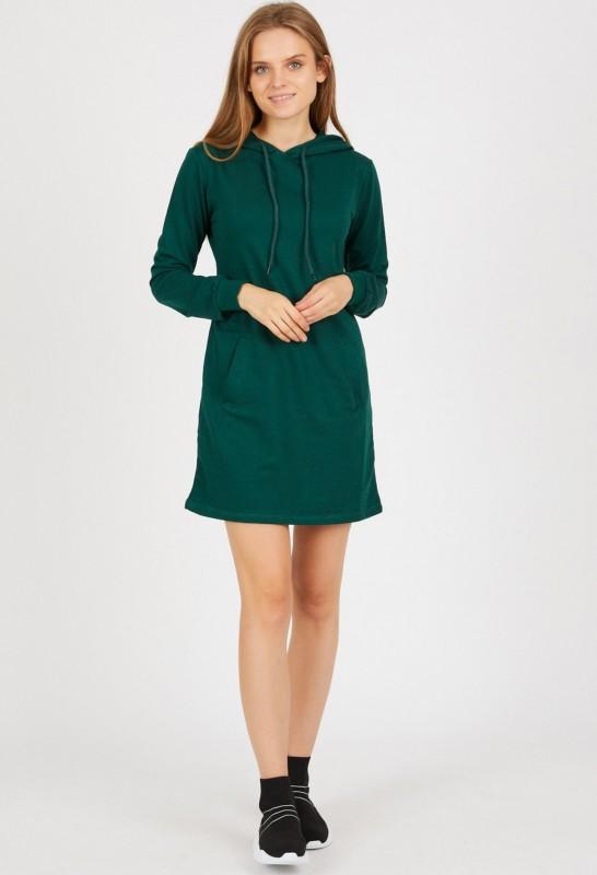 Rochie Dama stil hanorac 9079-2 Verde Adrom