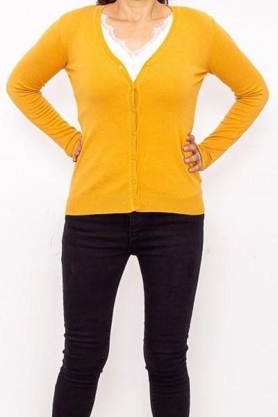 Bluza Dama cu nasturi QF1851-6 Galben Fashion