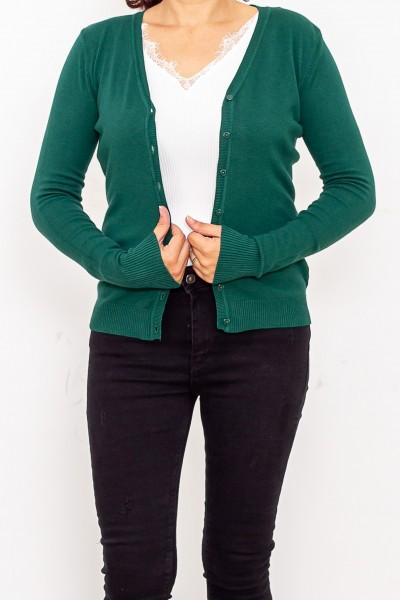 Bluza Dama cu nasturi QF1851-6 Verde Fashion