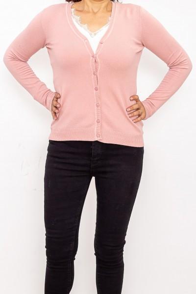 Bluza Dama cu nasturi QF1851-6 Roz Fashion