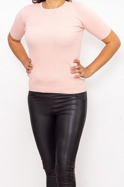 Bluza Dama cu maneca scurta QF5079-3 Roz Fashion