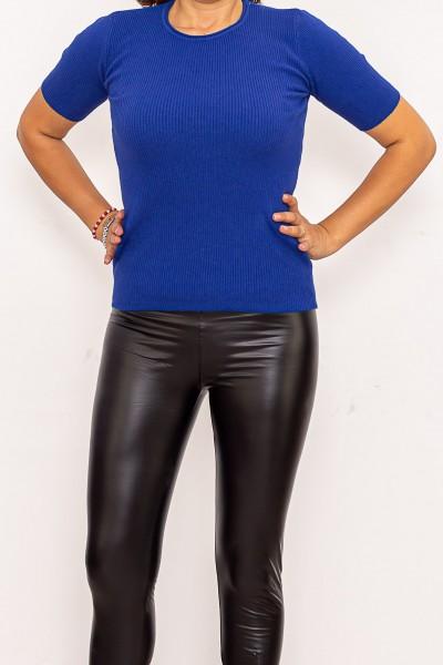Bluza Dama cu maneca scurta QF5079-3 Albastru Fashion
