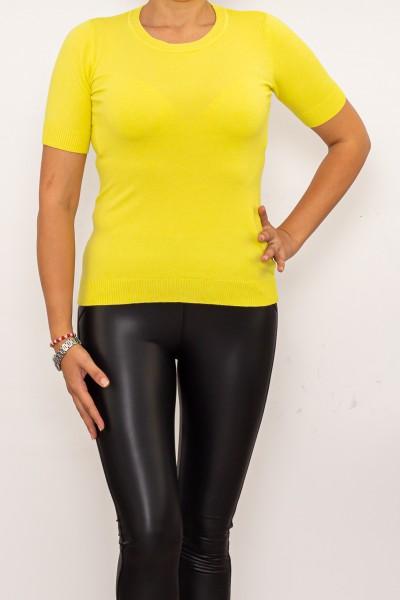 Bluza Dama cu maneca scurta QF5017-5 Galben Fashion
