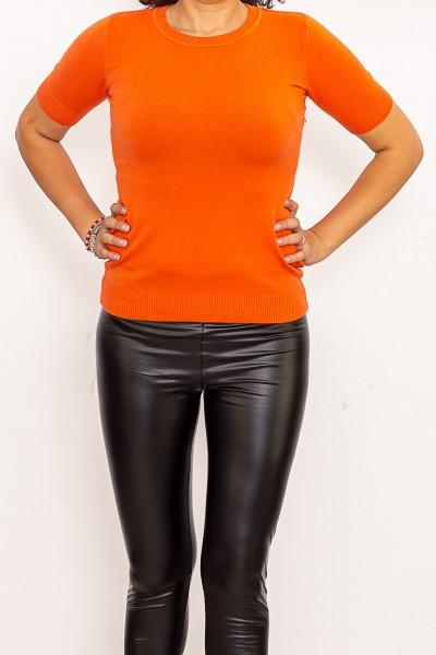 Bluza Dama cu maneca scurta QF5017-5 Portocaliu Fashion