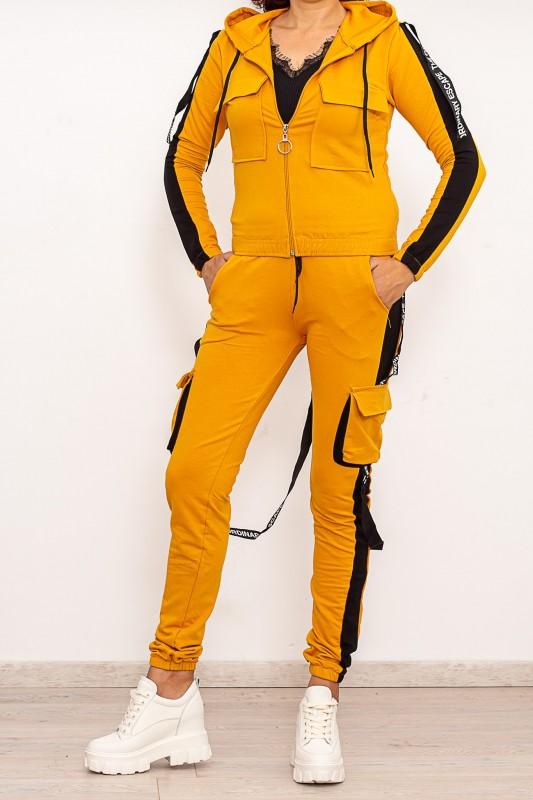 Trening Dama din bumbac 4522 Galben Fashion