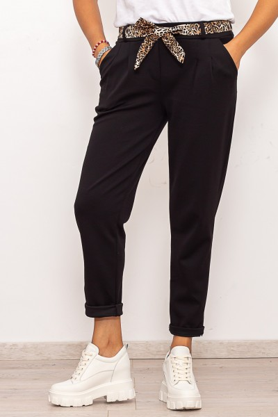 Pantaloni casual Dama 3741 Negru Fashion