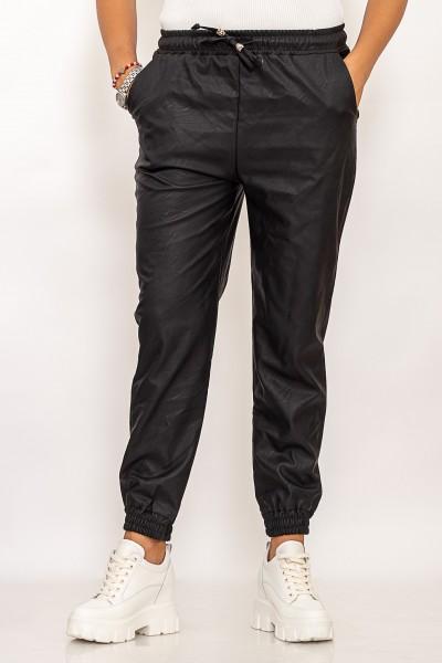 Pantaloni Dama din piele ecologica 10601 Negru Fashion