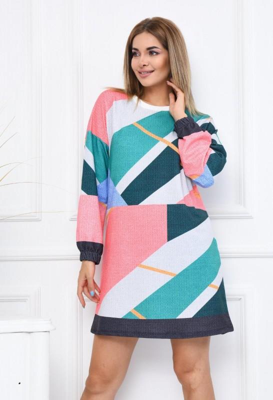 Rochie Dama 2556-4 Multicolor Fashion
