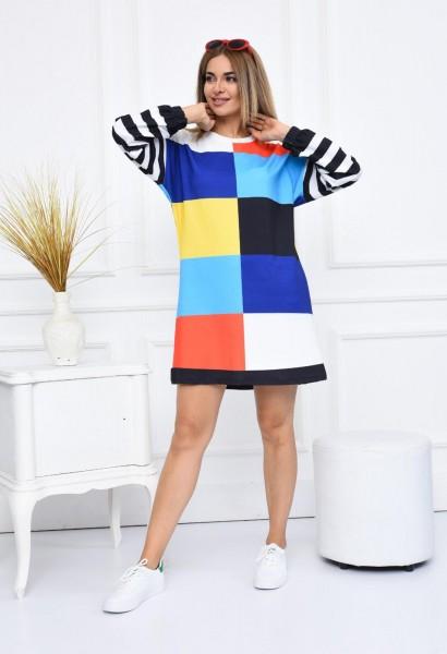 Rochie Dama 2556-5 Multicolor Fashion
