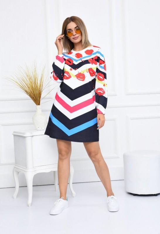 Rochie Dama 2556-1 Multicolor Fashion