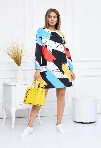 Rochie Dama 2556-6 Multicolor Fashion