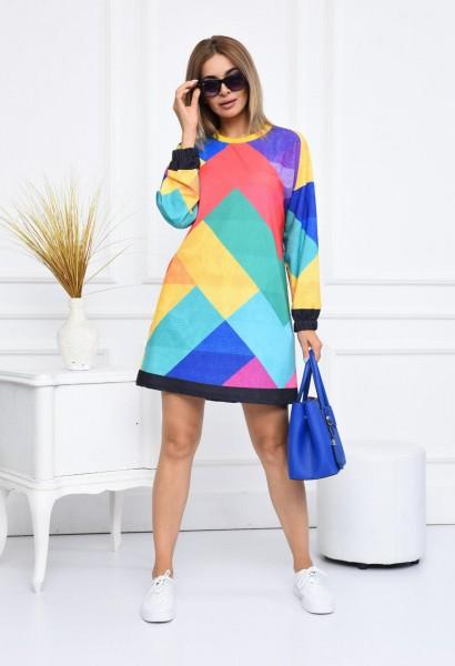 Rochie Dama 2556-3 Multicolor Fashion