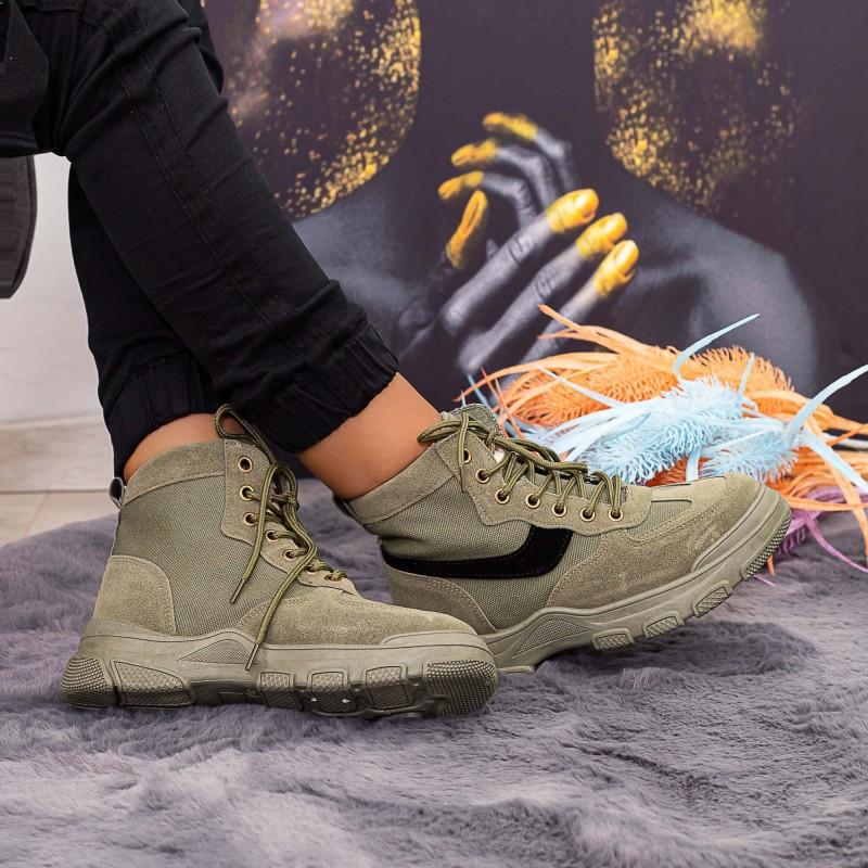Ghete Dama Y08 Verde army Fashion