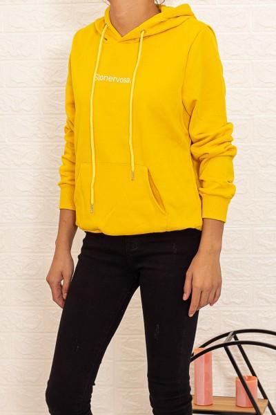 Hanorac Dama CR1780 Galben Fashion