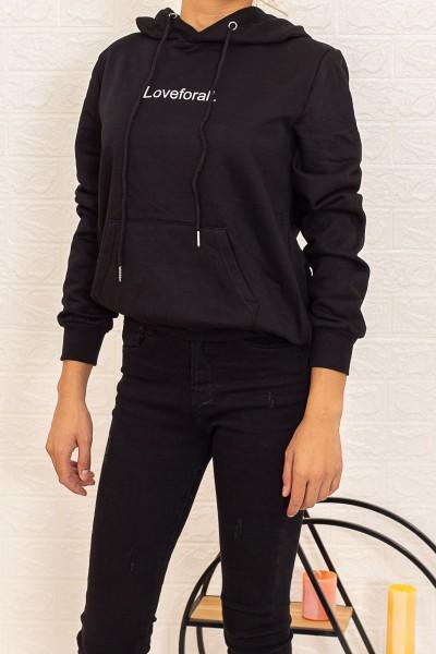 Hanorac Dama CR1781 Negru Fashion