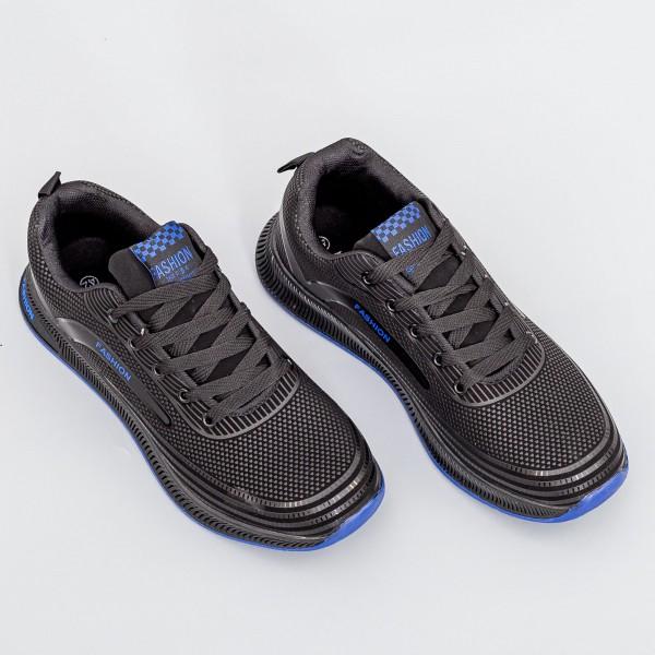 Pantofi Sport Barbati XX2-8 Negru-Albastru Fashion