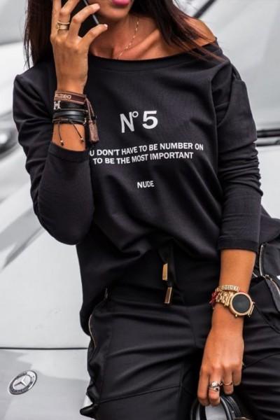 Bluza Dama 9134 Negru Adrom