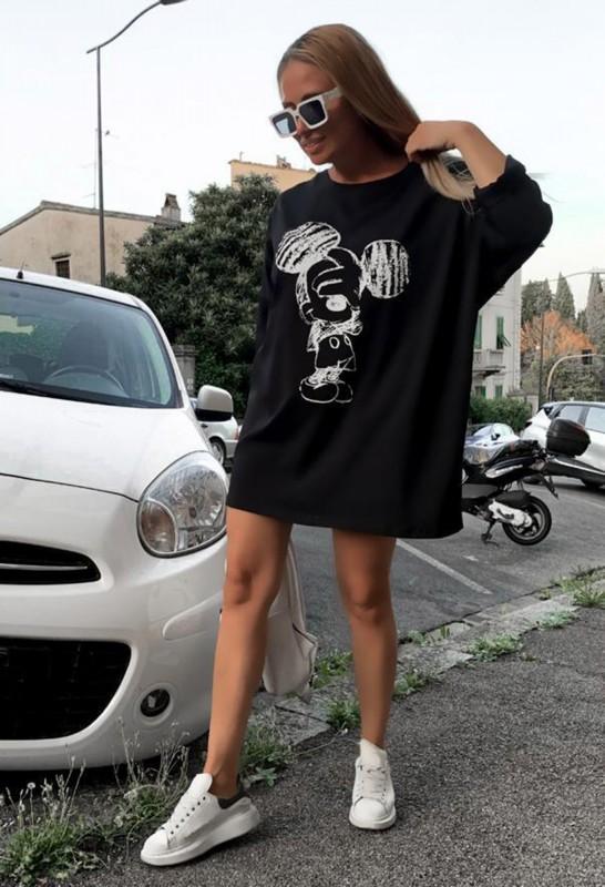 Rochie 30621 Negru Fashion