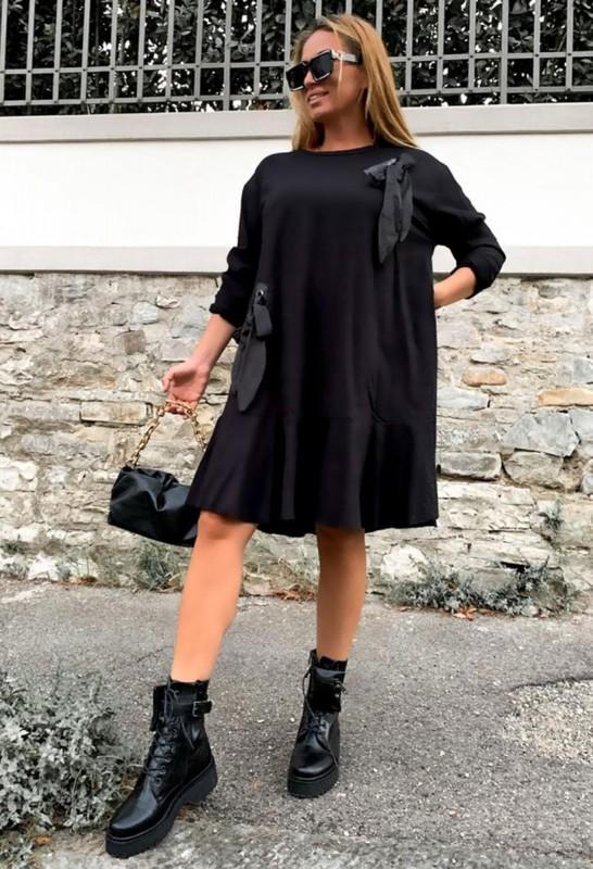 Rochie 30821 Negru Fashion