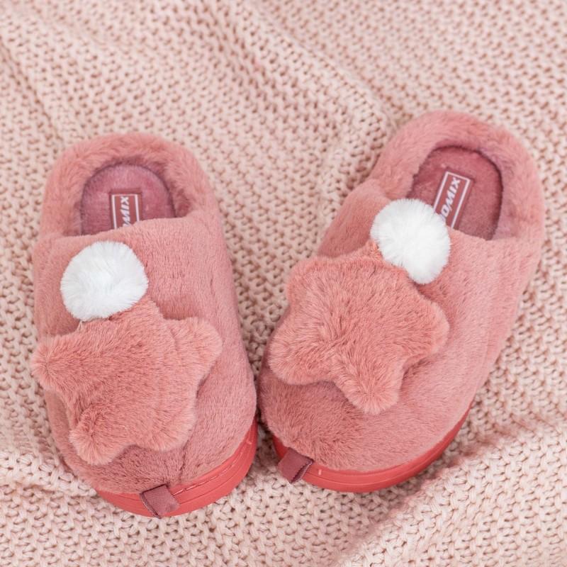 Papuci de casa MB0494 Roz inchis Jomix