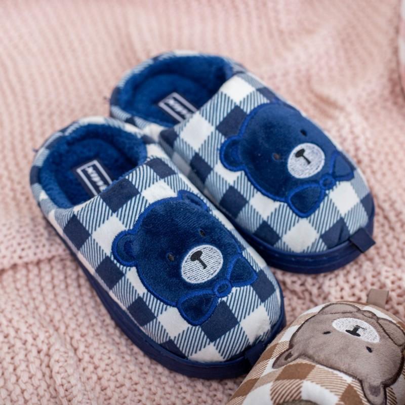 Papuci de casa MB1170 Albastru inchis Jomix