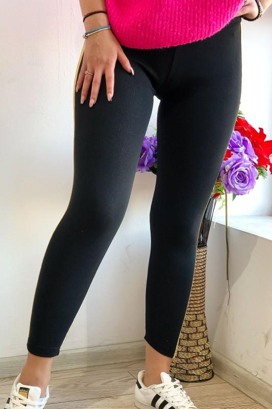 Colanti Dama din bumbac HC26 Negru-Bej Fashion