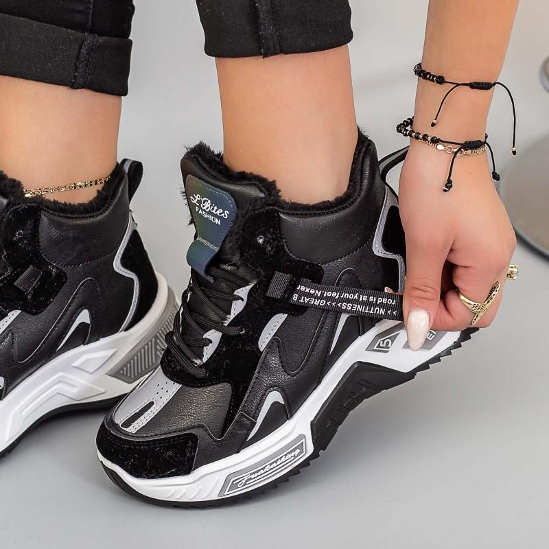 Pantofi Sport Dama LLS-022 Negru Mei