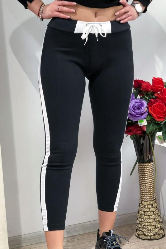 Colanti Dama din bumbac HC35 Negru-Alb Fashion