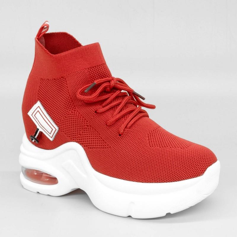Pantofi Sport cu Platforma Dama QQ3 Red Mei